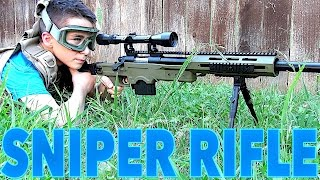 Download WELL MB4411D Bolt Action Airsoft Sniper Rifle with Robert-Andre! Video