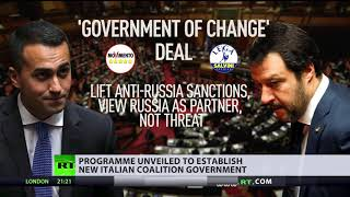 Download Proposed Italian coalition deal seeks to lift anti-Russia sanctions Video