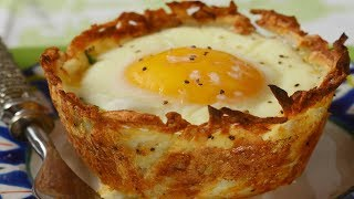 Download Hash Brown Breakfast Cups Recipe Demonstration - Joyofbaking Video