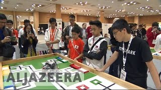 Download Students flock to India for World Robot Olympiad Video