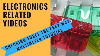 Download Checking fuses the easy way Multimeter tutorial Video
