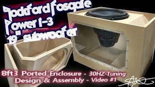Download Massive Subwoofer, Massive Ported Box (Build) Rockford Fosgate Power T3 19″ Plexi Window VIDEO 1 Video
