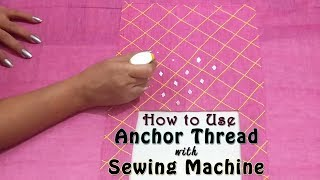 Download How to use Anchor Thread with Sewing Machine | Designer Neckline with Anchor Thread | Mirror Work Video