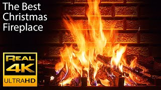 Download 4K Relaxing Fireplace & The Best Instrumental Christmas Music & Crackling Fire Sounds 🔥 UHD 2 Hours Video