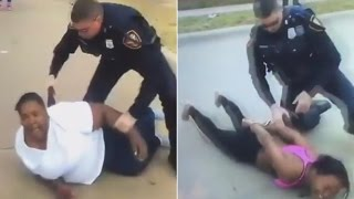 Download White Cop Tackles Black Mom After She Calls For Help (VIDEO) Video