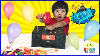 Download BLAST BOX BALLOON EXPLOSION Pop Challenge! Family Fun Egg Surprise Toys for Kids Video