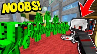 Download 10 CACTUS NOOBS vs 1 MURDERER! (Minecraft Murder Mystery Trolling) Video