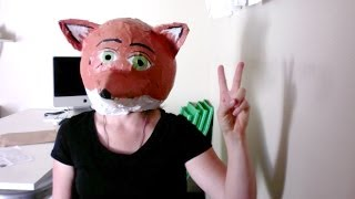 Download How to make a paper mache fox mask/head Video