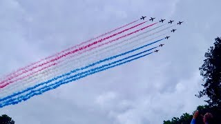 Download RAF celebrates 100 years with 100 aircraft flypast Buckingham Palace London Video