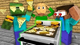 Download Monster School: WORK AT FAST FOOD PLACE WITH BALDI'S BASICS BECOME ! - Minecraft Animation Video