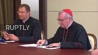 Download Russia: Putin meets Parolin, welcomes 'constructive dialogue' between Holy See and Russia Video
