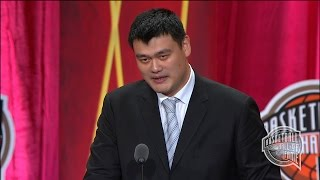 Download Yao Ming's Basketball Hall of Fame Enshrinement Speech Video