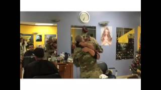 Download Soldier comes home and surprised mother at work. Video