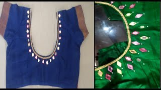 Download DIY designer blouse | blouse designing at home | how to design a designer blouse Video