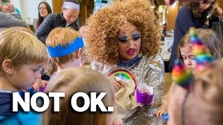 Download Drag Queen Clown Entertains Small Children In Brooklyn New York Library (REACTION) Video