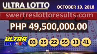 Download LOTTO RESULTS OCTOBER 19 2018 9PM DRAW - 6/58 result w/ jackpot of 49.5M Video
