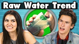 Download TEENS TRY RAW WATER | Teens Vs. Food Video