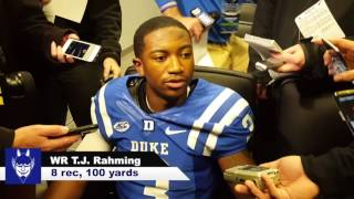 Download WR T.J. Rahming- Post Game v UNC Video
