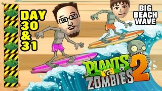 Download Lets Play PVZ 2: Big Wave Beach Day 30 & 31: Endangered Guacodiles Video
