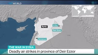 Download The War in Syria: Deadly air strikes in province of Deir Ezzor Video