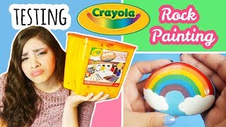 Download Testing Crayola ″Rock Painting″ Kit | Collab With NerdECrafter Video