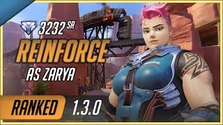 Download [Rating:3232] Rogue Reinforce as Zarya on Route 66 Escort / S2 Diamond Ranked Gameplay 1.3.0 Video