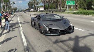 Download Lamborghini Veneno Driving + REVVING BullFest 2017 at Lambo Home Lamborghini Miami Video