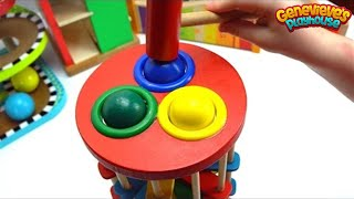 Download Genevieve Plays with Fun Ball Pounding Toys for Toddlers! Video