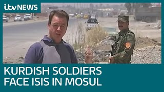 Download Kurdish soldiers face ISIS militants across 'No Man's Land' in Mosul, Iraq | ITV News Video