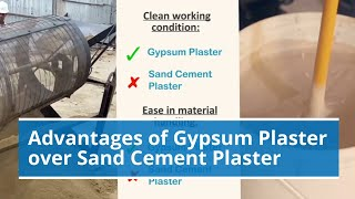 Download Advantages of Gypsum Plaster over Sand Cement Plaster Video