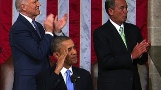 Download Obama salutes Afghanistan war hero in State of the Union Video