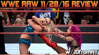 Download WWE Raw 11/28/16 Review, Results & Reaction: Sasha Banks 3rd Title Reign Is An Embarrassment For Raw Video