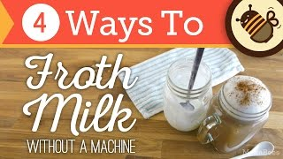 Download How to Froth & Foam Milk Without an Espresso Machine or Steam | 4 Ways Video