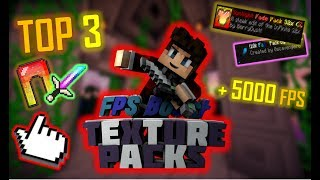 Download +5000 FPS! TOP 3 SMOOTH FPS BOOST TEXTURE PACKS 🌟 [+DOWNLOAD] Minecraft SKYWARS Video