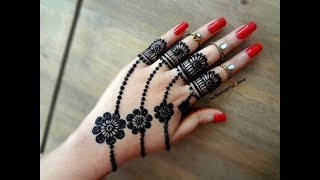 Download Beautiful trendy simple easy henna mehndi Design for hands for eid,weddings Video
