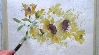 Download Loose watercolor flowers Video