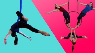Download GYMNASTS TRY AERIAL CIRCUS FOR THE FIRST TIME Video