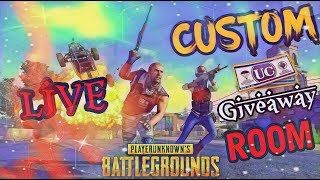 Download 🔴 LIVE CUSTOM ROOM PUBG MOBILE LIVE| ANYONE CAN JOIN AND PLAY #UC GIVEAWAY🔴 #Royal Pass Giveaway Video