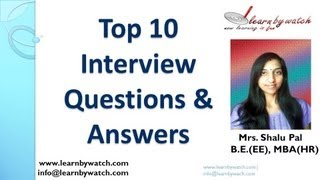 Download Top 10 Interview Questions and Answers (English) Video