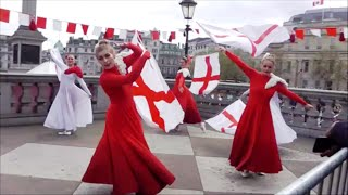 Download 2016 St George's Day in Trafalgar Square London Video