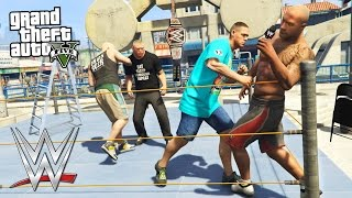 Download GTA 5 Mods - WWE MOD w/ JOHN CENA, THE ROCK, BROCK LESNAR & MORE!! (GTA 5 Mods Gameplay) Video