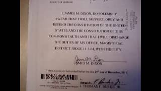 Download Magistrate's Oath Of Office Video