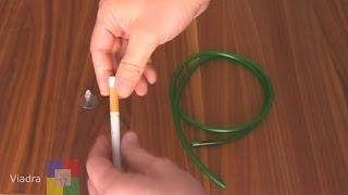 Download Aquarum CO2 Diffusor durch einen Zigarettenfilter - selber bauen in 2 min. Video