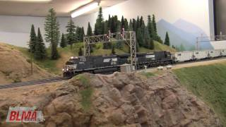Download Awesome HO Scale NS TopGon Model Train Action in HD - OCT 2009 Video