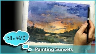Download How to Make a Sunset Glow in Watercolor. Video