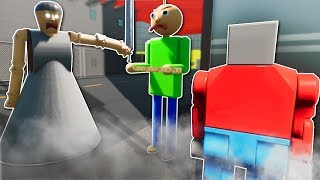 Download BALDI vs GRANNY SURVIVAL! - Brick Rigs Multiplayer Gameplay - Lego Baldi's Basics & Granny Survival Video