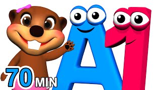 Download ABCs 123s + More | Alphabet Numbers Nursery Rhymes | Kids Learn 3D Cartoons by Busy & Baby Beavers Video
