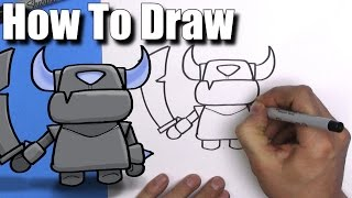 Download How To Draw Mini Pekka from Clash Royale- EASY Chibi - Step By Step - Kawaii Video
