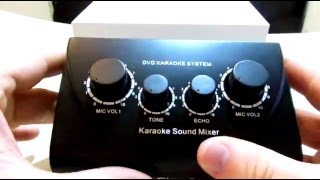 Download Fifine Karaoke digital audio Sound Echo Mixer with Cable for TV PC smart phone and Amplifier Video