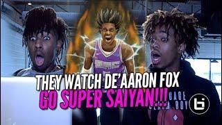 Download THEY WATCH DE'AARON FOX GO SUPER SAIYAN DROP 5OPTS! Ballislife BCB Reaction Video
